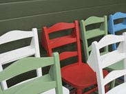 Hand Painted Church Chairs