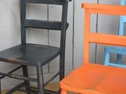 Hand painted Church Chairs are available to buy at UKAA - Distressed Finish
