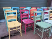 Hand Painted Church Chairs at UKAA