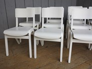 Hand painted church stacking chairs