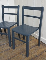 Hand painted Church Stacking Chairs are available to buy at UKAA - Solid Finish