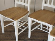 Hand Painted Oak Oxford Church Chairs