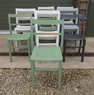 Hand Painted Stacking Chairs