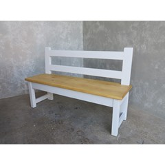 Handmade Kitchen Bench With Back