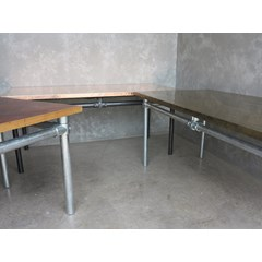 Handmade Kitchen Tables On Galvanised Bases