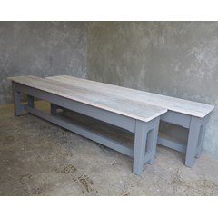 Handmade Lime Waxed Benches