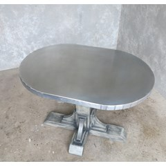 Handmade Oval Top Zinc Coffee Table