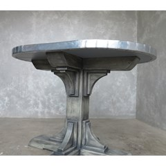 Handmade Zinc Table With Gothic Base