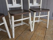 Image 2 - Farrow & Ball Distressed Finish Painted Church Chairs