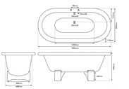Image 3 - Cranford Double Ended Cast Iron Bath