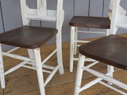 Image 3 - Farrow & Ball Distressed Finish Painted Church Chairs