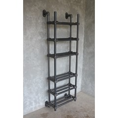 Industrial Style Metal Shoe Rack