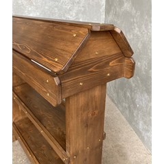 Jacobean Waxed Finish Saddle Rack