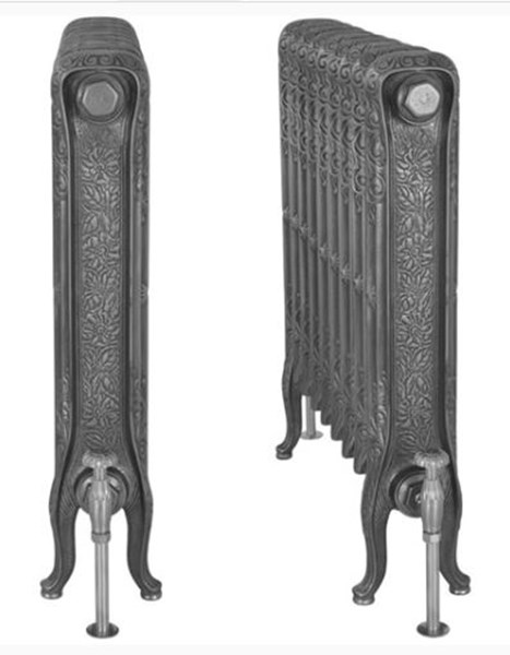 John King 780mm Tall Carron Cast Iron Radiator 9 Sections Long