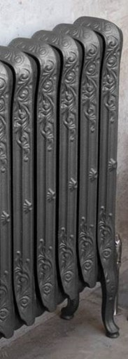 John King 780mm Tall Foundry Grey Finish Cast Iron Radiators
