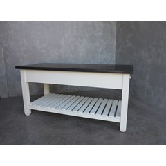 Kitchen Central Island With Slatted Shelf
