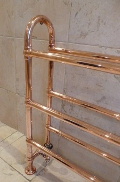 Carron Ermine Copper Bathroom Ladder Towel Rail