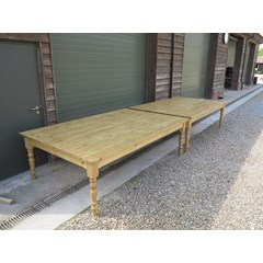 Large Pair Of Matching Plank Top Tables
