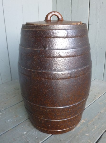 Large Saltglazed Barrel