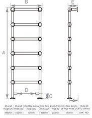 Large Traditional Victorian Ladder Style Towel Rail