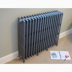 Large Victorian Style Cast Iron Radiator