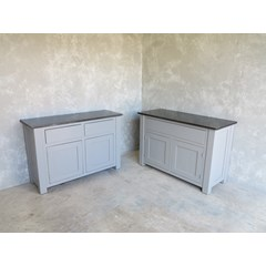 Made To Measure Cupboards With Zinc Tops