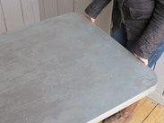 Made To Measure Zinc Kitchen Worktops