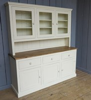 Made to order pine painted kitchen dressers