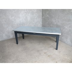 Matt Zinc Kitchen or Dining Room Table