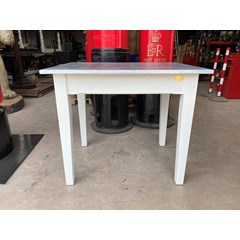 Matt Zinc Table With Chamfered Edges