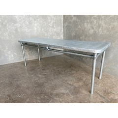 Matt Zinc Table With Rounded Corners