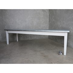 Matt Zinc Table With Tapered Legs