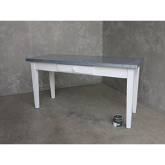 Metal Top Kitchen Table With Cutlery Drawer