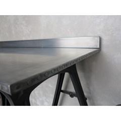 Nailed Edges On Zinc Work Surface