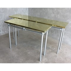 Natural Brass Finish Metal Tables