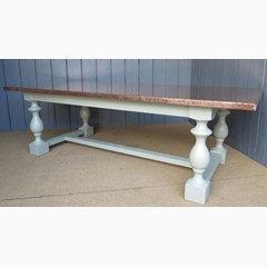 Natural Copper Top Dining Table