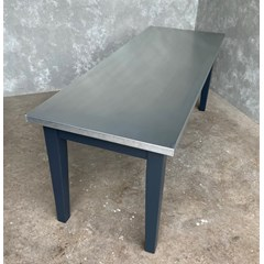 Natural Finish Zinc Dining Table