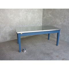 Natural Finish Zinc Kitchen Table