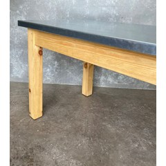 Natural Finish Zinc Table On  A Waxed Base