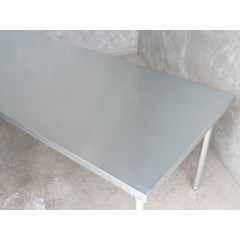 Natural Finish Zinc Table On Galvanised Base