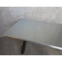 Natural Finish Zinc Table With 40mm Thick Top