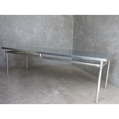Natural Finish Zinc Table With Metal Base