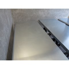 Natural Finish Zinc Worktops With Bullnose