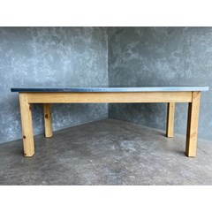 Natural Zinc Top Table With Pine Table Base