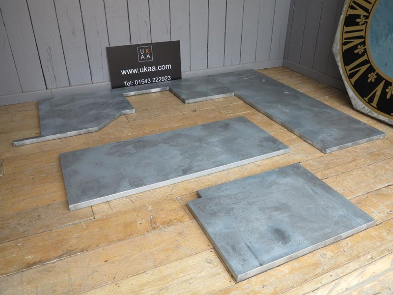 Zinc kitchen worktops metal work surfaces handmade for Zinc countertop cost