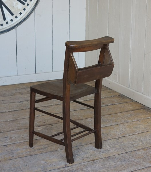 Old Dark Antique Church Chairs For Sale