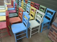 Old Wooden Church Chairs For Sale