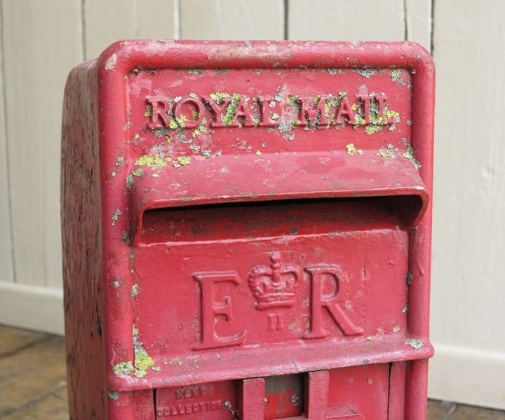 Genuine Royal Mail Cast Iron Arch Back Post Box With Lock