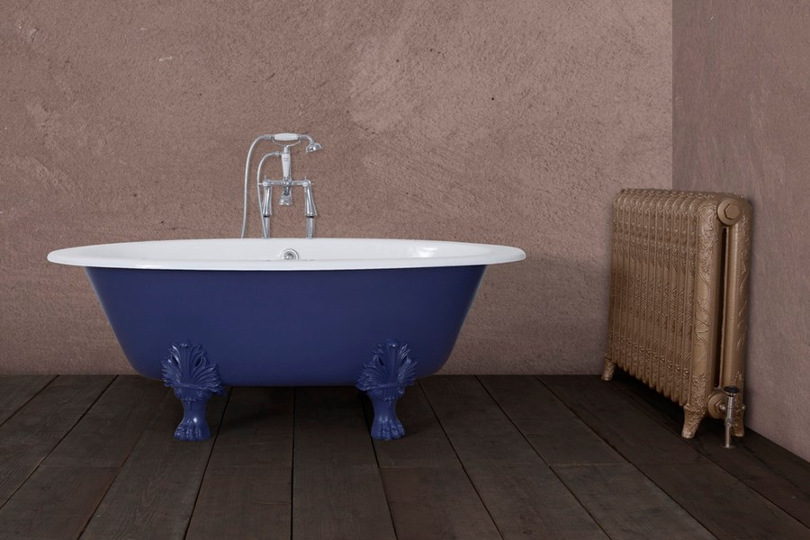 Painted Jig Cast Iron Bath in the Edmonton Style