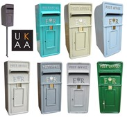 Painted Post Boxes in a Colour of Your Choice
